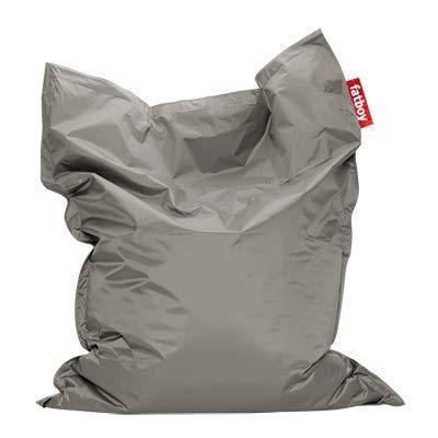 Fatboy® Original lichtgrau Nylon-Sitzsack| Klassischer Indoor Beanbag, Sitzkissen | 180 x 140 cm*
