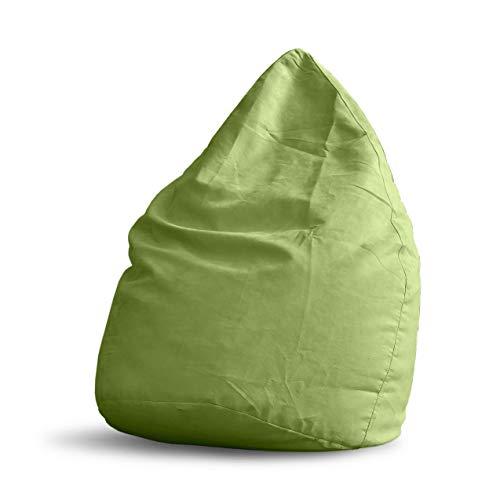 Lumaland Luxury XL Plus Microvelours Sitzsack stylischer Beanbag 220L Füllung mit extra starken...*
