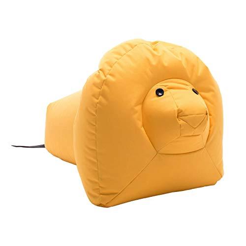 Sitting Bull 190303 Happy Zoo Nora Löwe Sitzsack, gelb 100% Polyester beschichtet LxBxH 87x55x55cm*