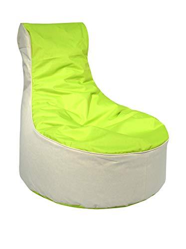 Kinzler S-10121/120 outdoorfähiger Sitzsack /Sessel, ca. 80x80x90 cm, 2-farbig, grün*