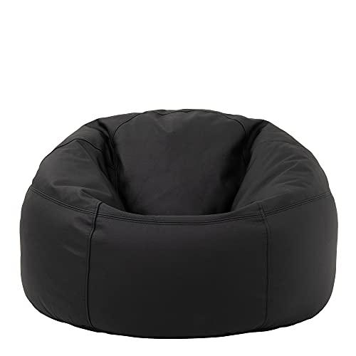 """Icon Klassischer Sitzsack """"Valencia"""", Schwarz, 85cm x 50cm, Leder, Sitzsäcke für das...*"""