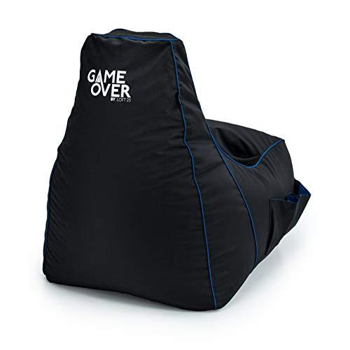 Game Over Video Spiele Sitzsack | Indoor Wohnzimmer | Seitentaschen für Controller | Headset Halter...*