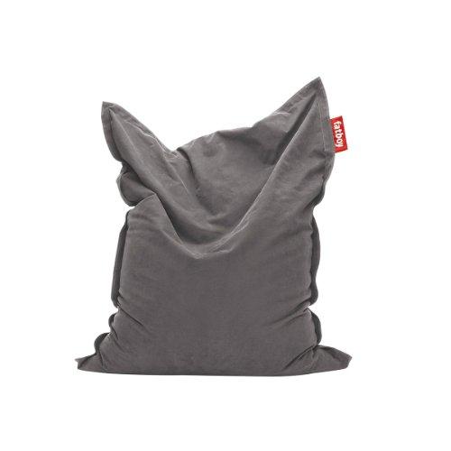 Fatboy® Original Stonewashed grau Sitzsack | Klassischer Indoor Beanbag aus Baumwolle, Sitzkissen |...