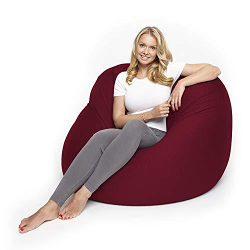 Lumaland Flexi Comfort Sitzsack Premium Bean Bag Sitzkissen Big 155 x 100 cm Rot*