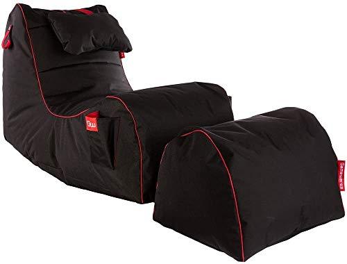 GAMEWAREZ Relax Series RX Red Sitzsack Set, Made in Germany. für PS4, XBOX360, XboxOne, Nintendo...*