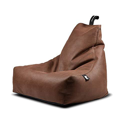 Sitzsack B-Bag MIGHTY Kunstleder in 4 rustikale Farben (Dunkelbraun)*