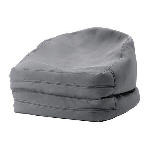 Ikea BUSSAN Sitzsack für drinnen und draußen; in grau