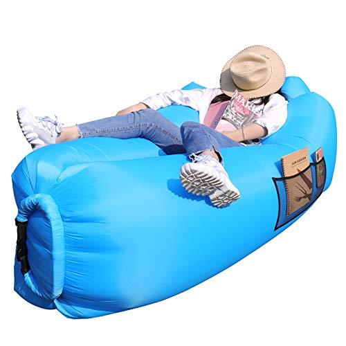 AngLink Luftsofa, 2021 Neu Kissenentwurf Wasserdichtes Aufblasbares Sofa Air Lounger mit 2...*