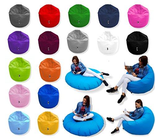 Patchhome 2 in 1 Funktion Sitzsack Sitzkissen Bean Bag - Rot - 100cm Durchmesser in 25 Farben und 3...