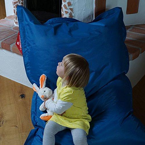 QSack Kindersitzsack Outdoorer, mit Innensack und Deutscher Qualitätsfüllung, 100x140 cm (blau)*